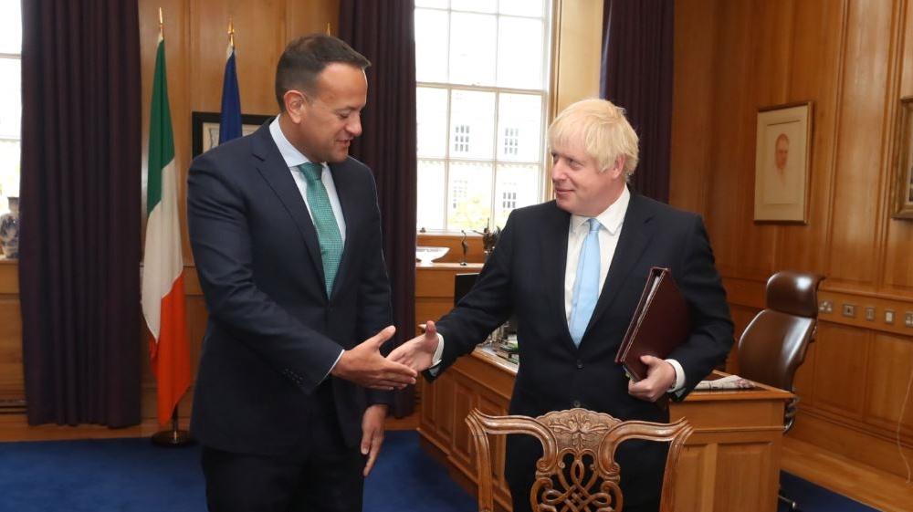British PM Johnson meets Irish Taoiseach Varadkar in Dublin