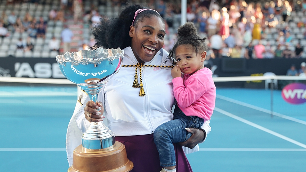 Serena Williams adds another trophy to her collection thumbnail