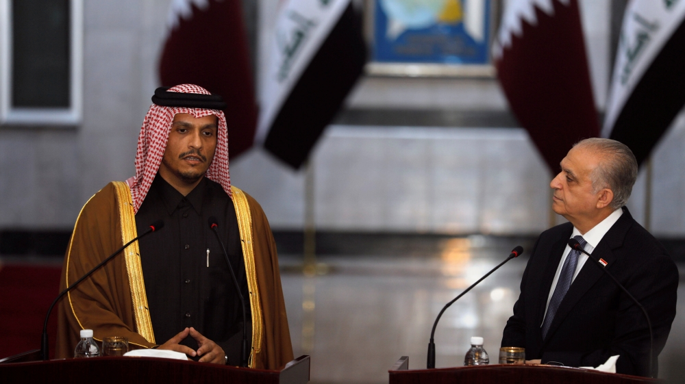 Qatar FM visits Iraq, seeks to ease regional tension thumbnail