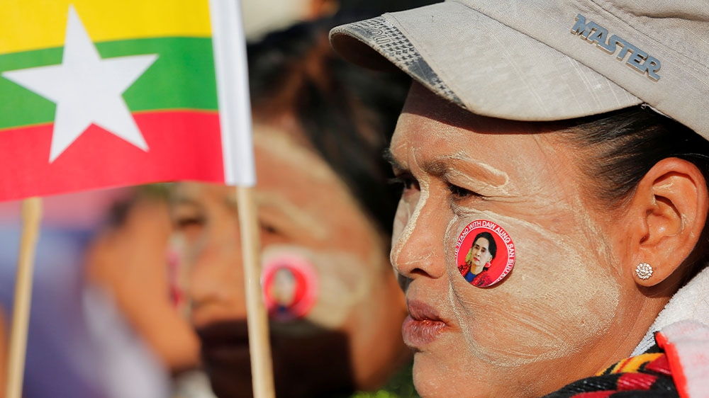 Myanmar ASSK supporters