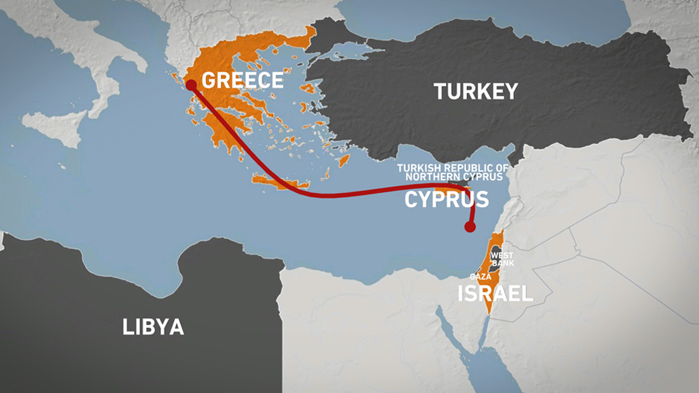 Eastmed pipeline map