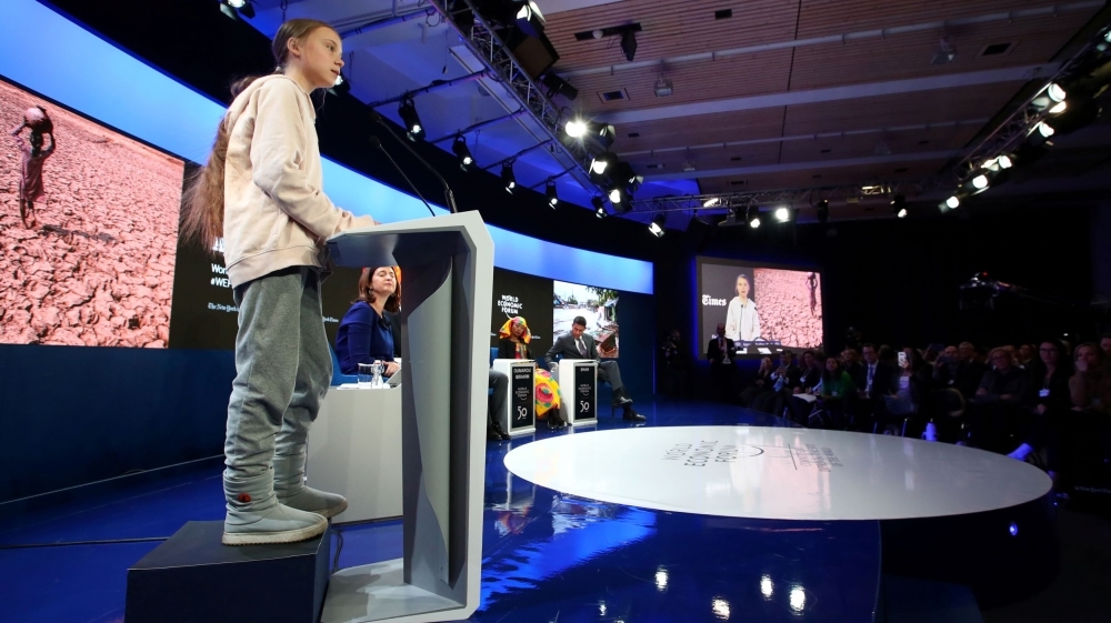 Climate activists brush off USA criticism in Davos