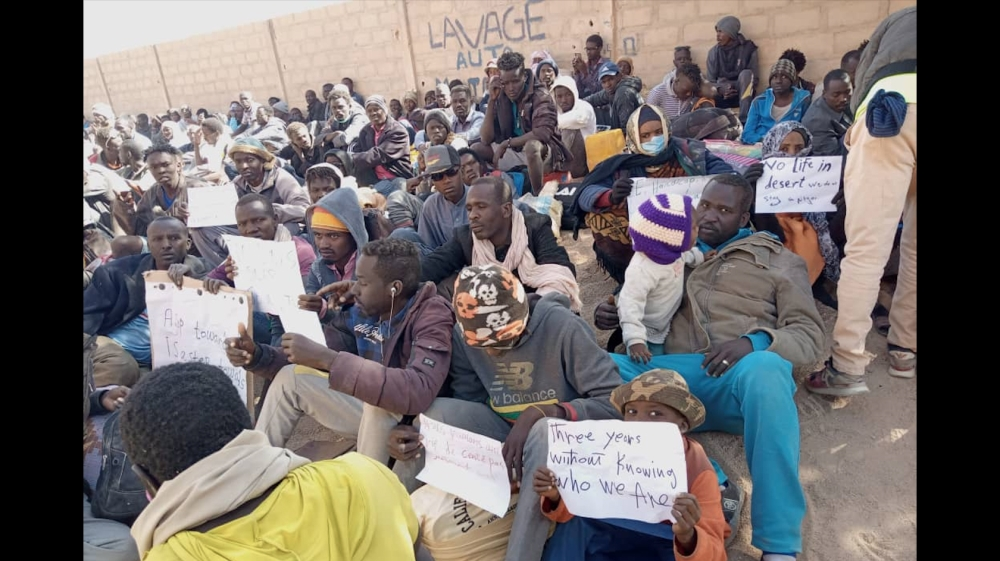 Sudanese refugees protest against long neglect in Niger