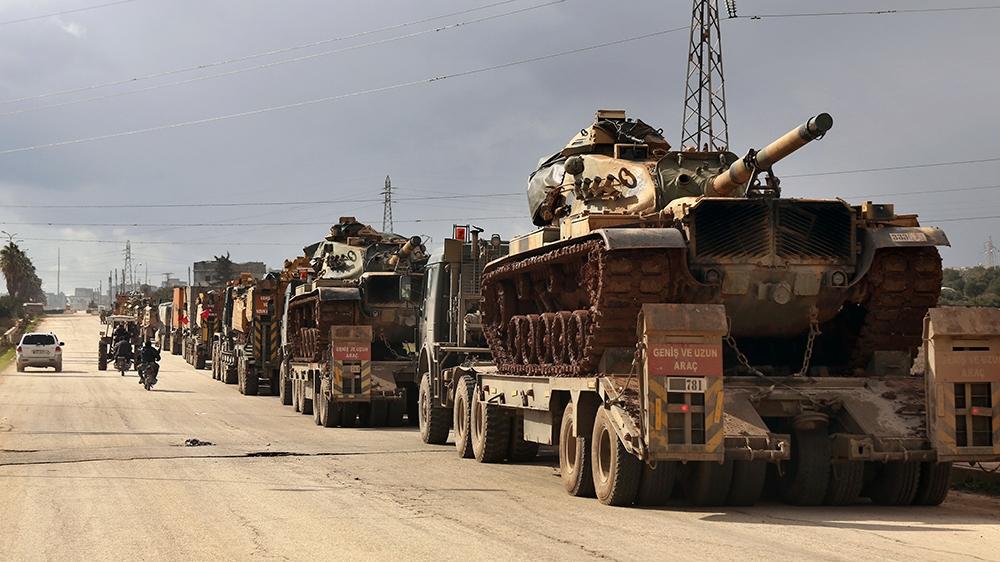 Турецкий военный конвой в Сирии