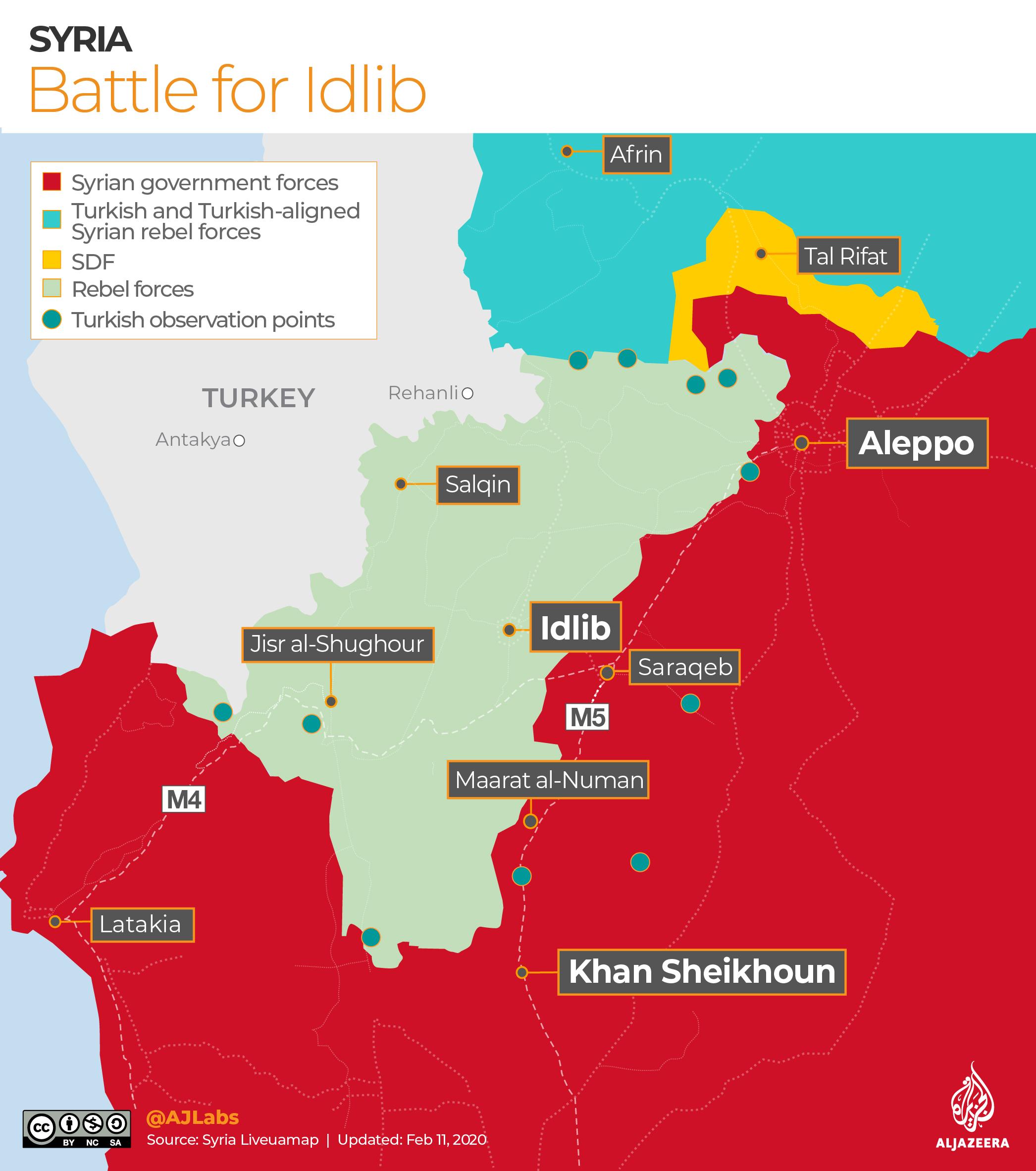 INTERACTIVE: Syria control map - Battle for Idlib - Feb 2, 2020
