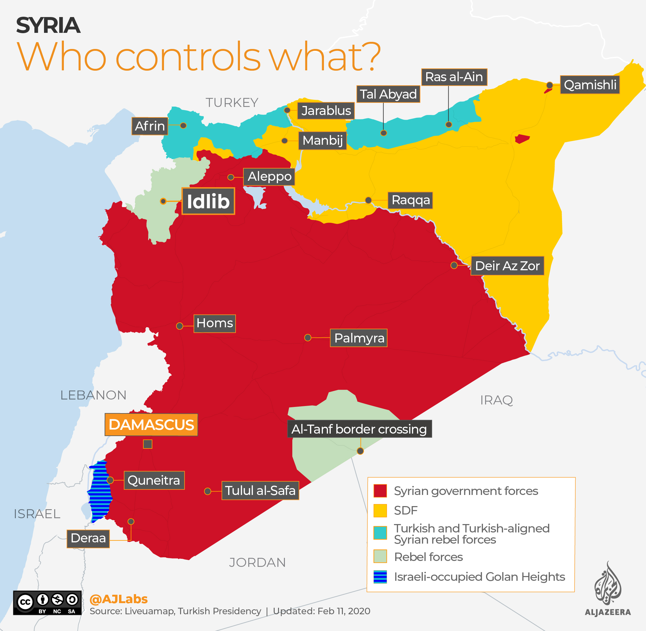 INTERACTIVE: Syria Who controls what map - FEB 11 2020