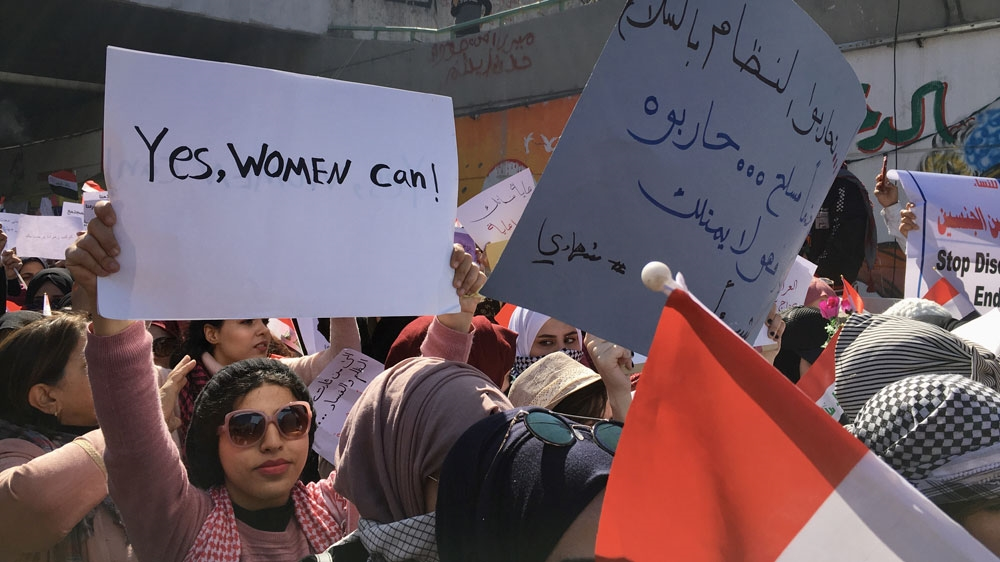 Iraq women protesters