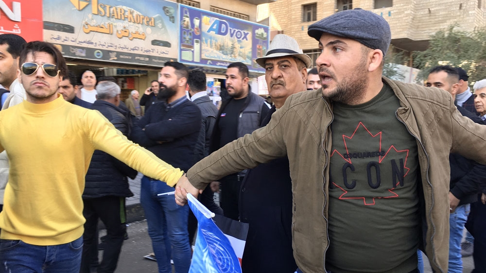 ইরাক প্রতিবাদকারী [Sofia Barbarani/Al Jazeera]