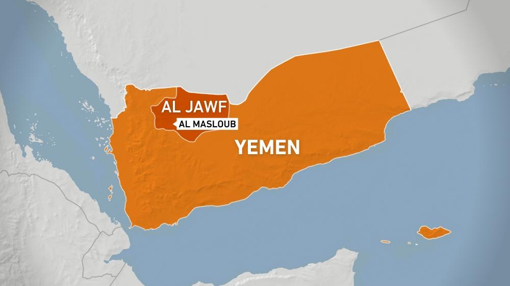 Al Masloub district, al-Jawf province, Yemen - map