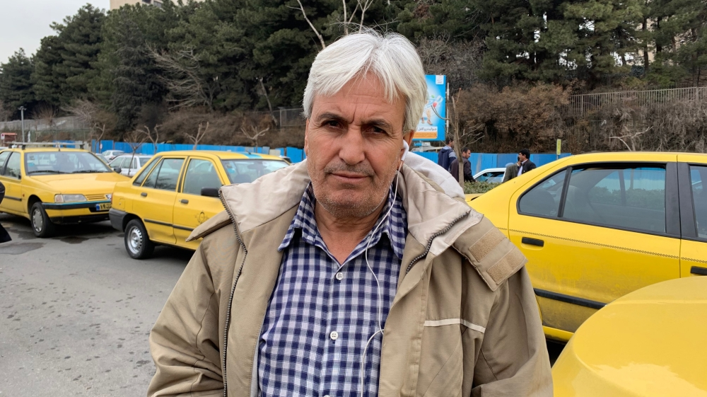 Hamdi, a 40-year-old, Taxi driver from Tehran says he struggling to get by every month due to the the country's worsening economic conditions, Iran