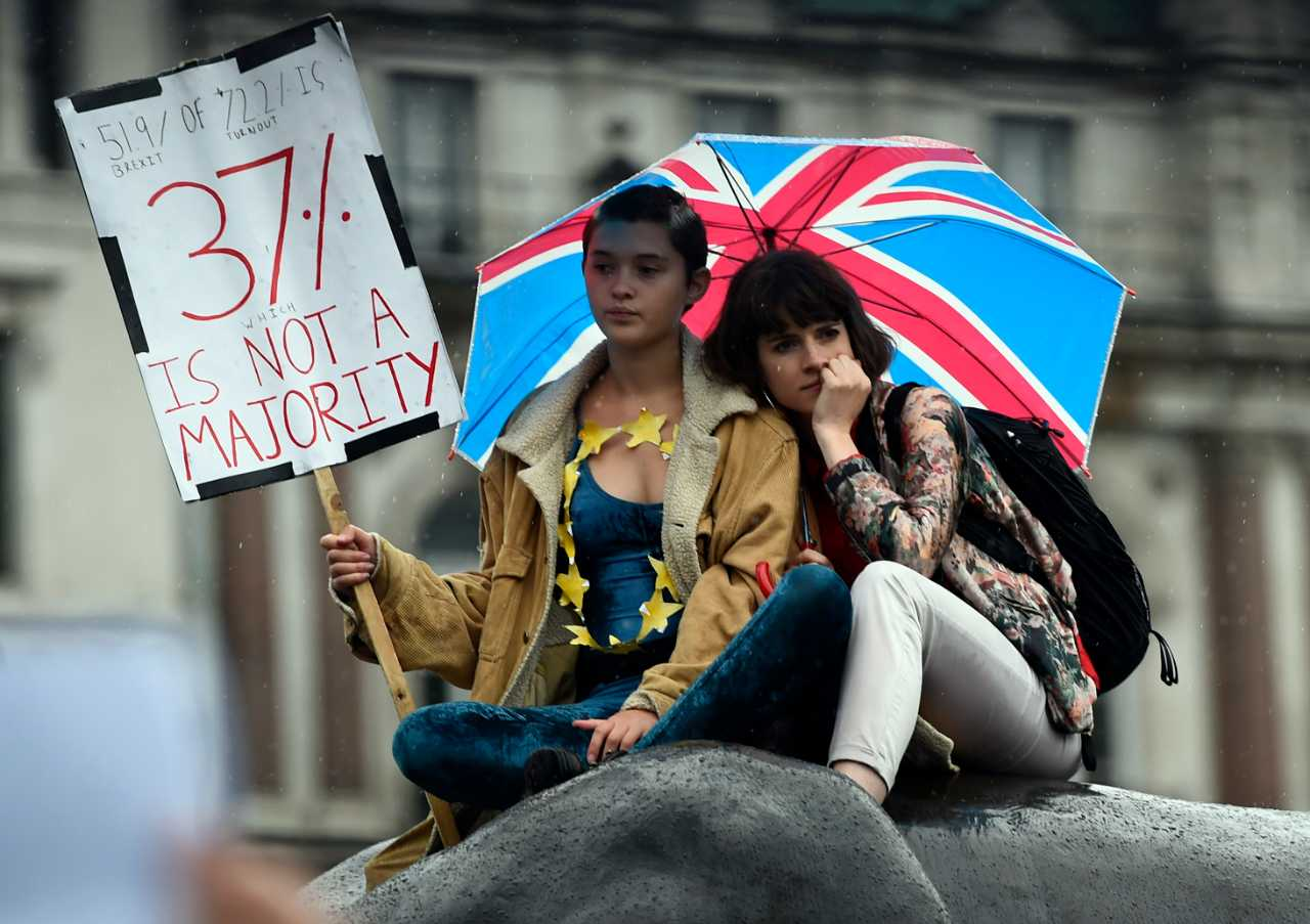 Brexit protests - reuters