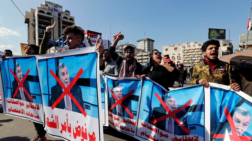 Iraqi students rally against PM-designate Mohammed Allawi thumbnail