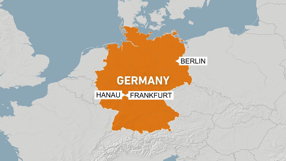 Germany map Hanau Berlin Frankfurt