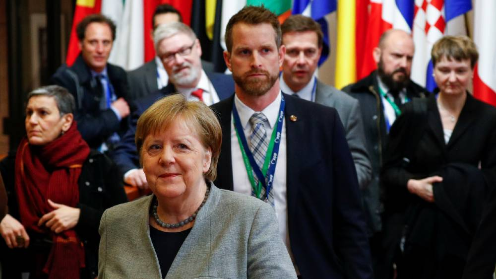 Merkel EU budget - reuters