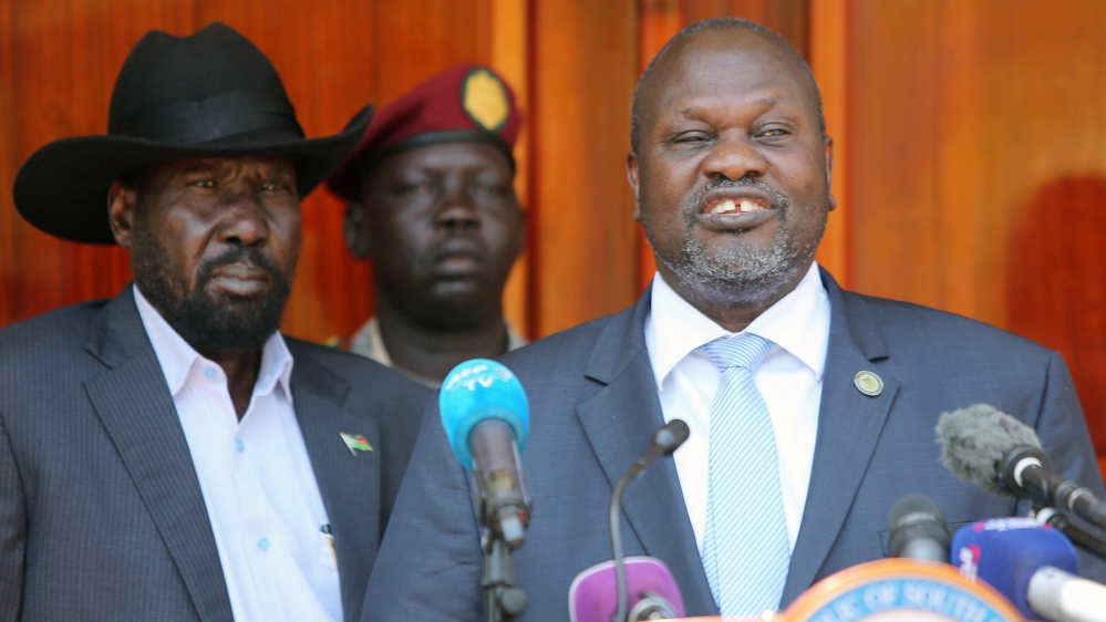 South Sudan's rival leaders form coalition government thumbnail