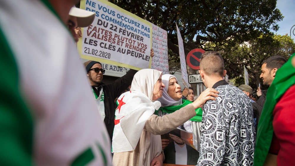 Tadjdit and Algerian protesters