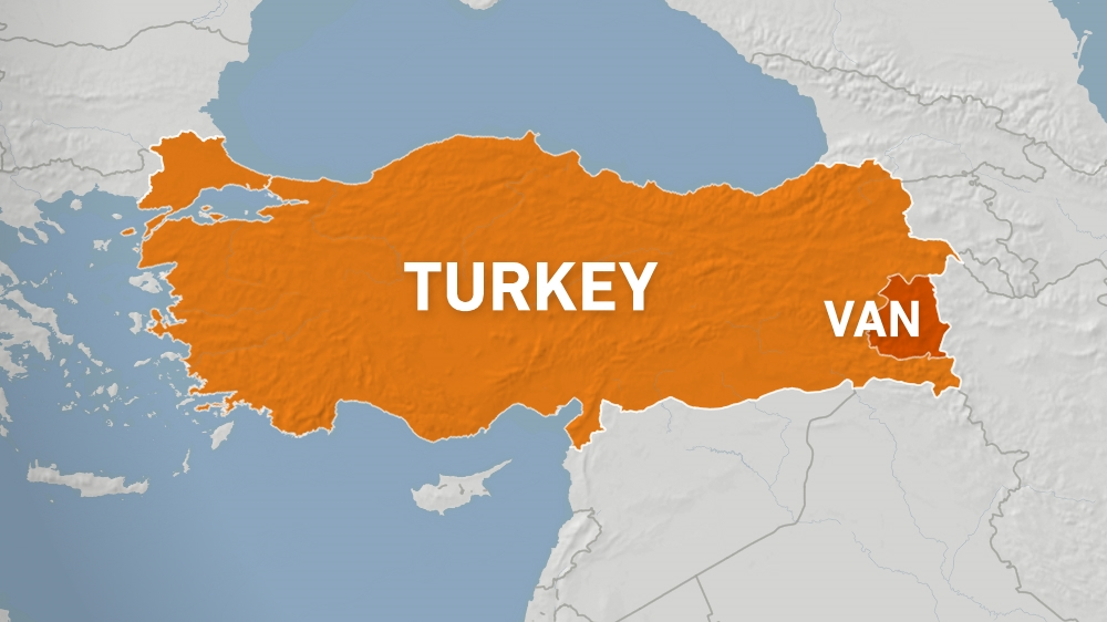 MAP Turkey's Van province