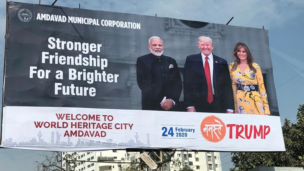 Trump and Modi billboard