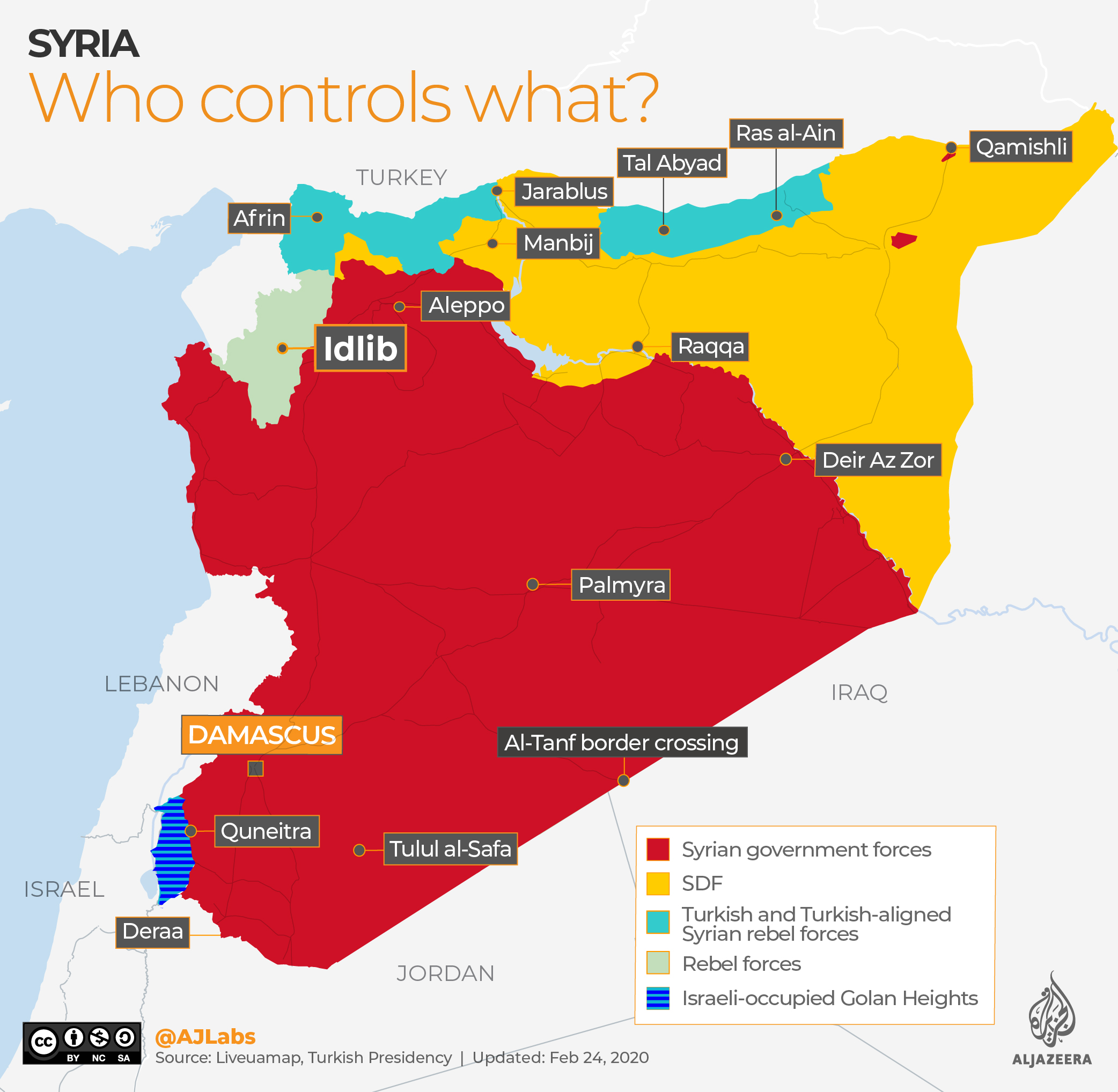 INTERACTIVE: Syria control map Feb 24, 2020