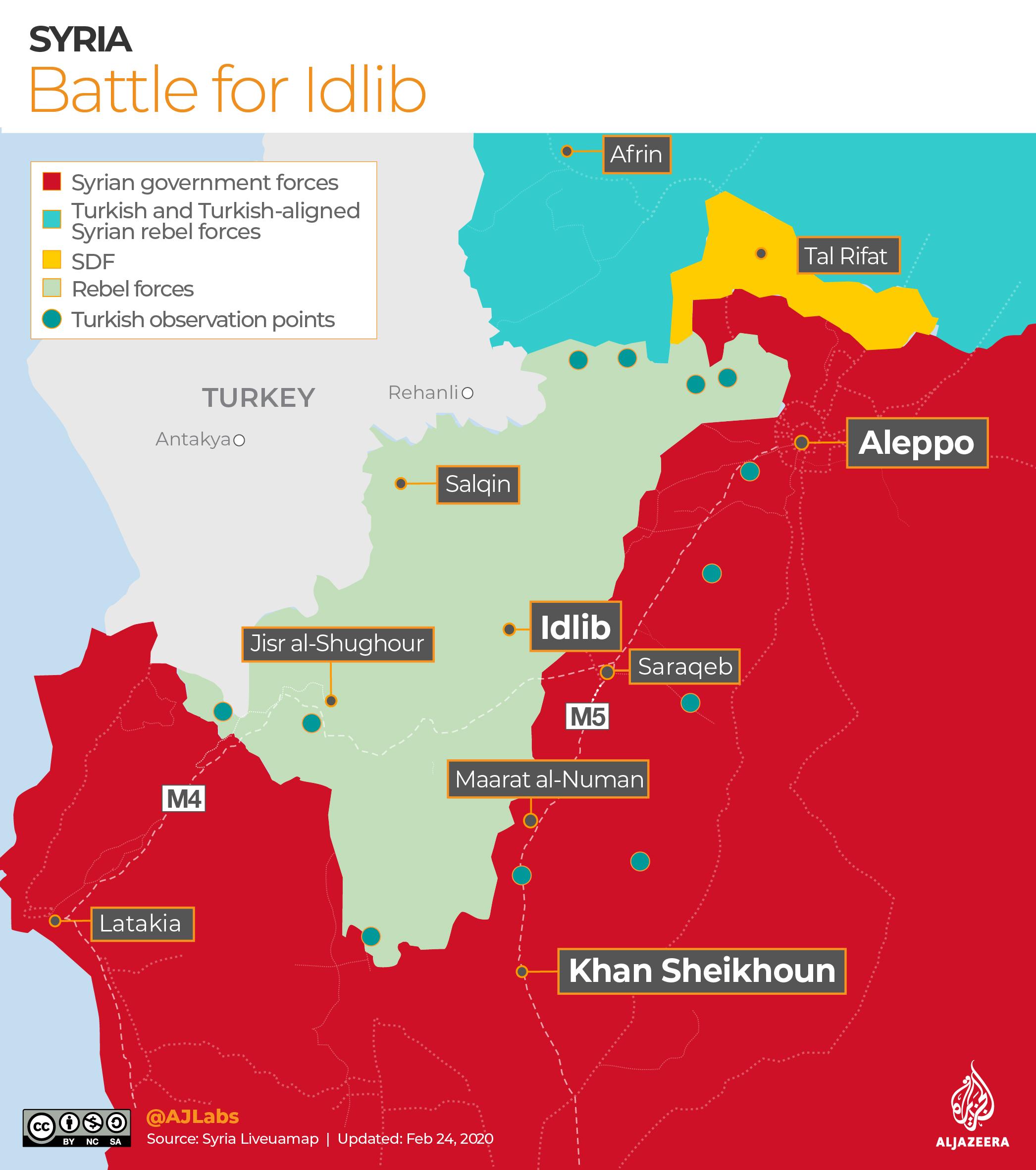 INTERACTIVE: Syria control map - IDLIB Feb 24, 2020
