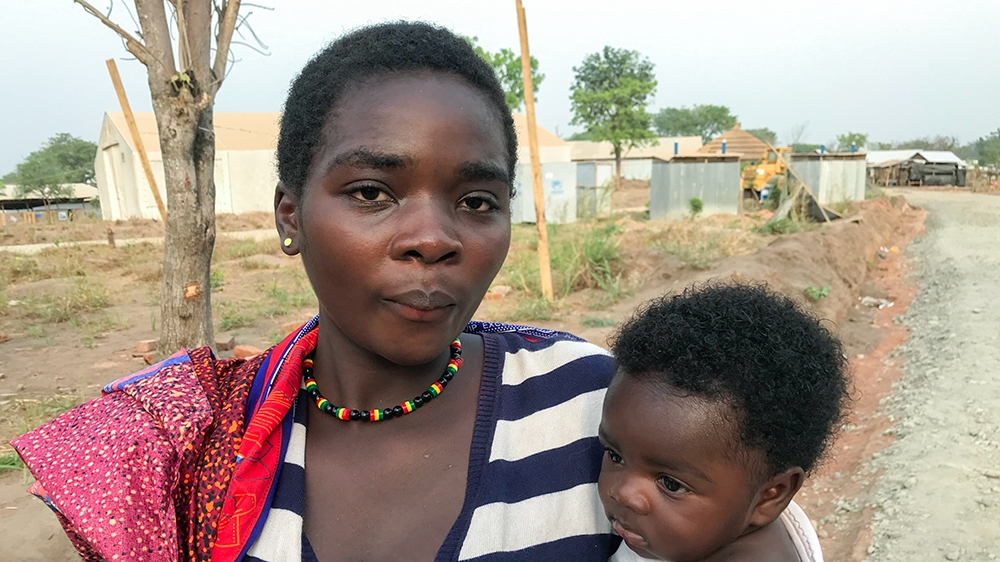 Glory Tiku says she is struggling to fend for herself and her baby [Linus Unah/Al Jazeera]