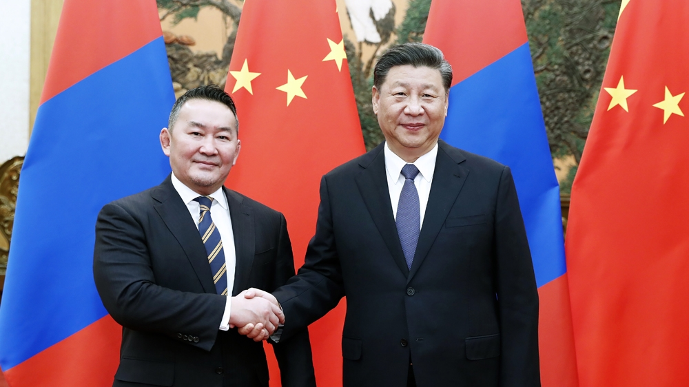 mongolia president and Xi