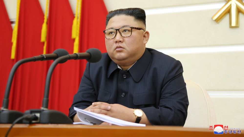 North Korean leader Kim Jong Un takes part in a meeting with the Political Bureau of the Central Committee of the Workers' Party of Korea (WPK) in Pyongyang