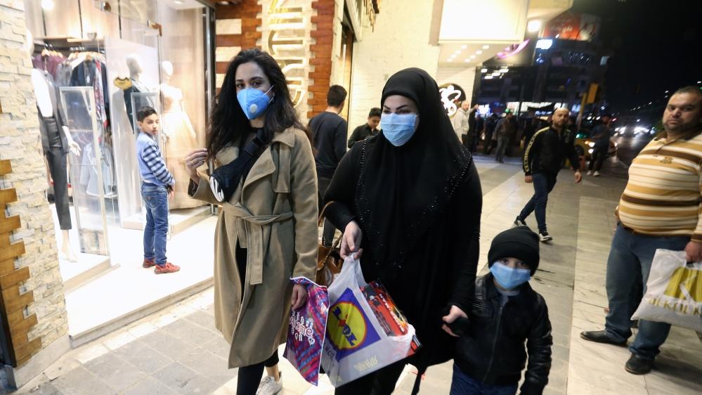 Coronavirus precautions in Iraq's Baghdad