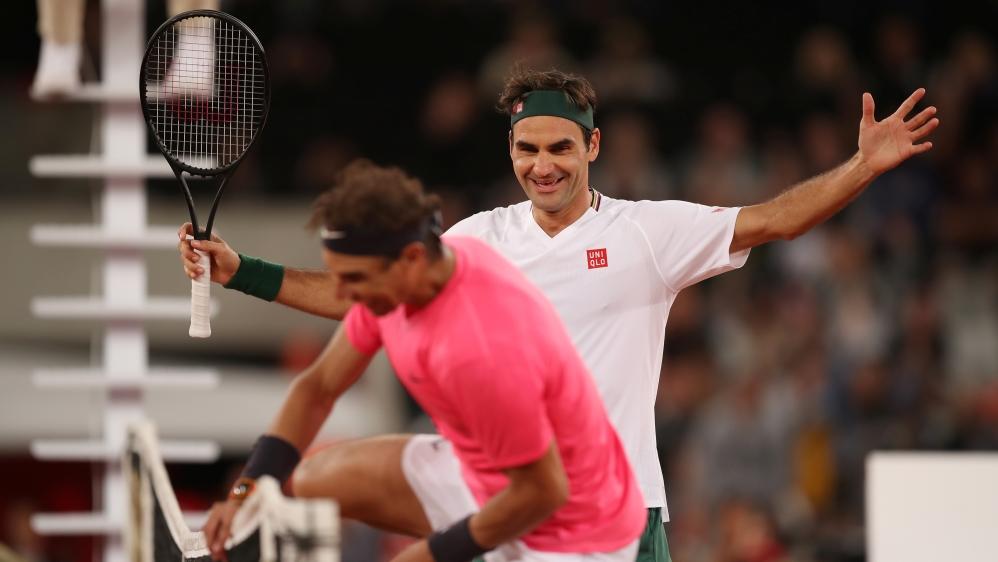 Federer Nadal Shatter Attendance Record In Match In Africa News Al Jazeera