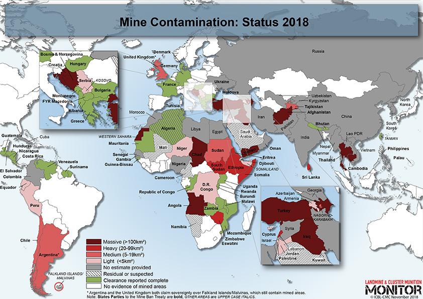 Landmine Monitor 2018 Maps [Courtesy: Landmine and Cluster Munition Monitor]