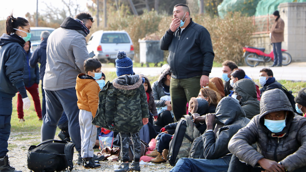 Islanders on Lesbos block camp and port as refugee arrivals spike thumbnail
