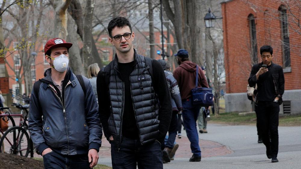 Harvard student mask