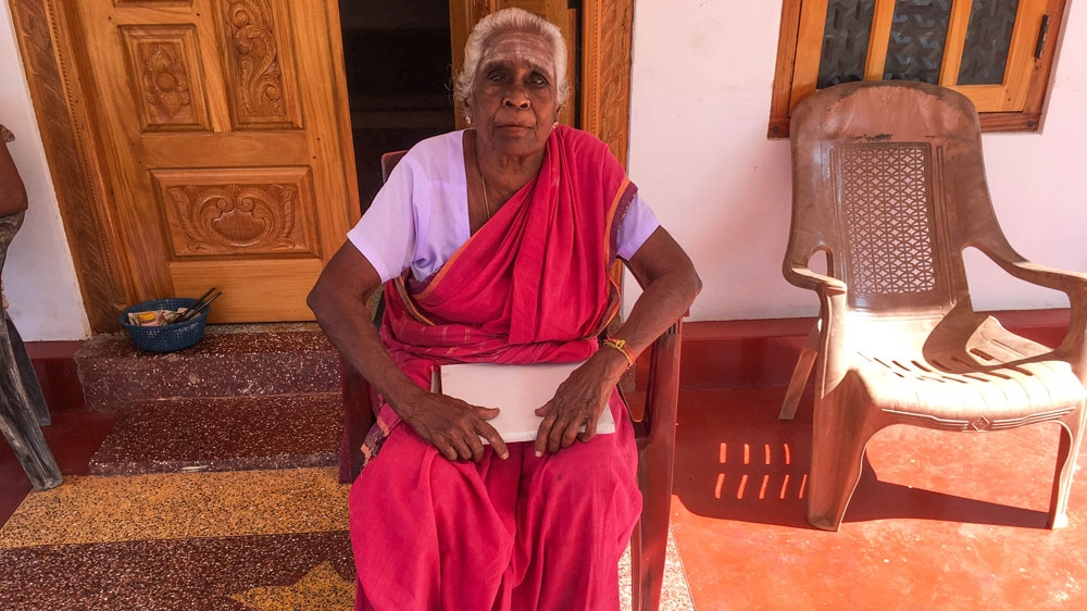 Chellamma Singharatnam in northern Sri Lanka