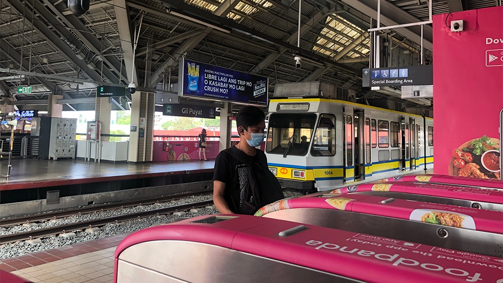 Manila lockdown Empty Train Stations [Ana P Santos/Al Jazeera]