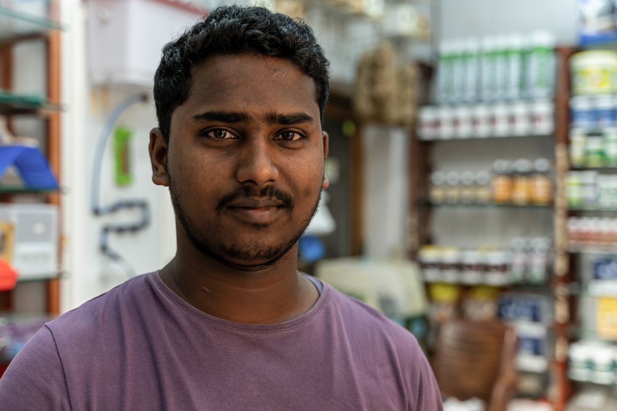 """Before the virus outbreak, we used to make at least 1,000 Qatari riyals a day ($274). Now we don't even make 300 riyals. Both our shops are suffering because there are no customers. People are staying away,"" Suman Das, a pet-food seller. [Sorin Furcoi/Al Jazeera]"