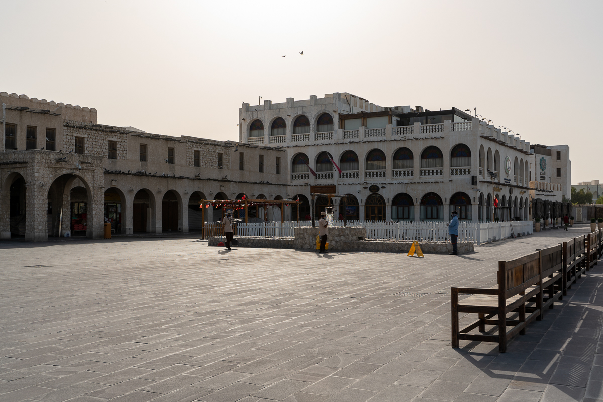 This square in Souq Waqif, one of Doha's tourism hotspots, is usually teeming with residents and tourists. [Sorin Furcoi/Al Jazeera]