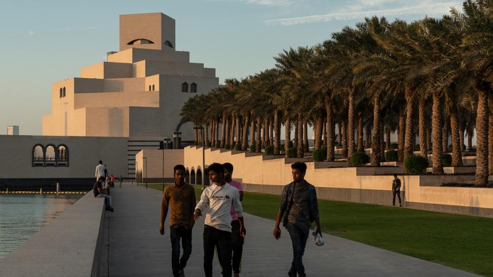 Qatar Corona [Sorin Furcoi/Al Jazeera]