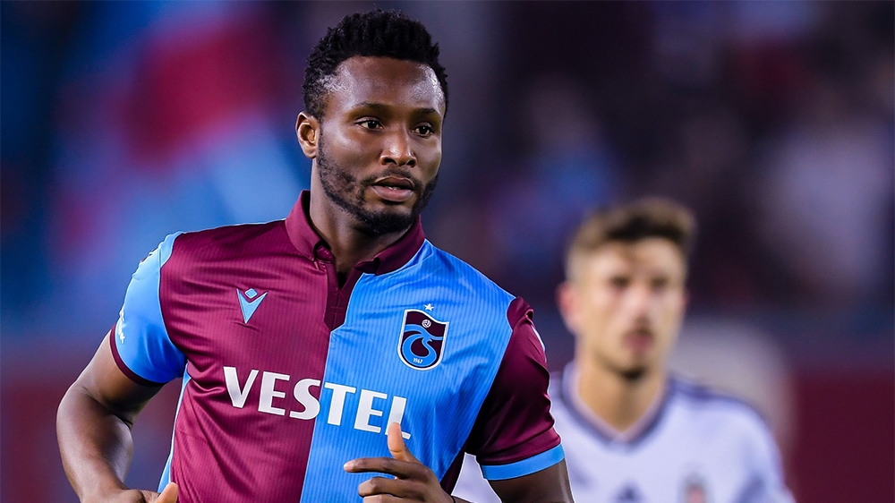 John Obi Mikel of Trabzonspor AS during the Turkish Spor Toto Super Lig match between Trabzonspor AS and Besiktas AS at the Senol Gunes stadium on September 29, 2019 in Trabzon, Turkey(Photo by VI Ima