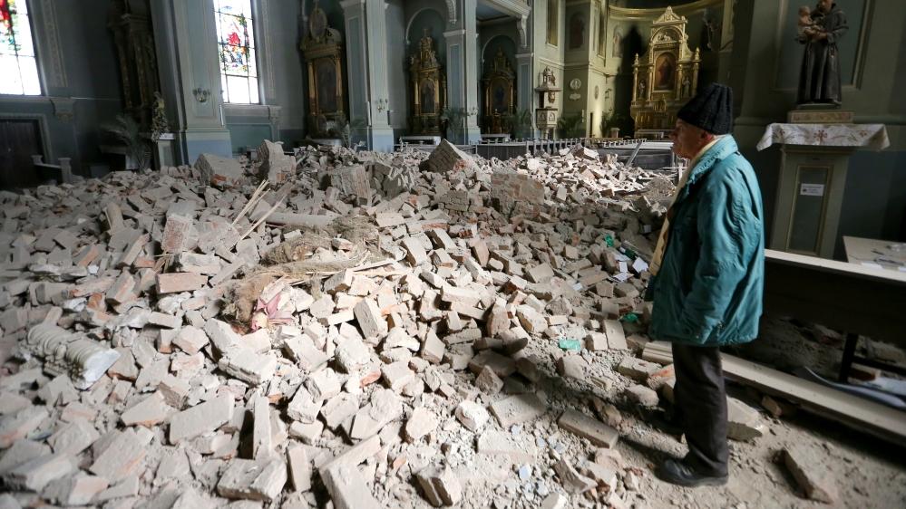 Earthquake strikes Croatia