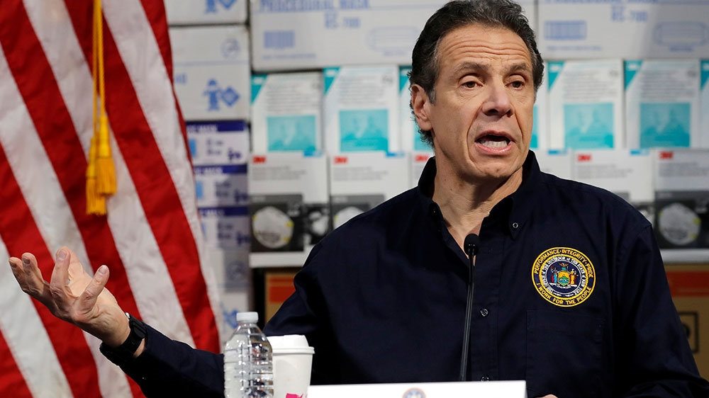 At least 385 dead as NY cases spike, hospitals overwhelmed: Cuomo thumbnail