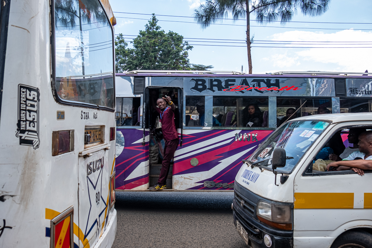 Kenya is known for its matatus - minibuses that often transport more people than they have seats. [Joost Bastmeijer/Al Jazeera]