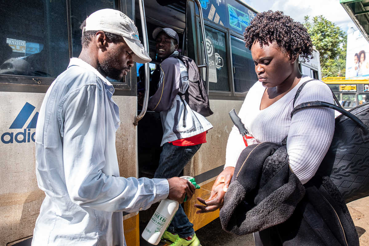 There are fears that Kenya's informal public buses that transport millions of Kenyans on a daily basis could be a weak link in the fight against the coronavirus. [Joost Bastmeijer/Al Jazeera]
