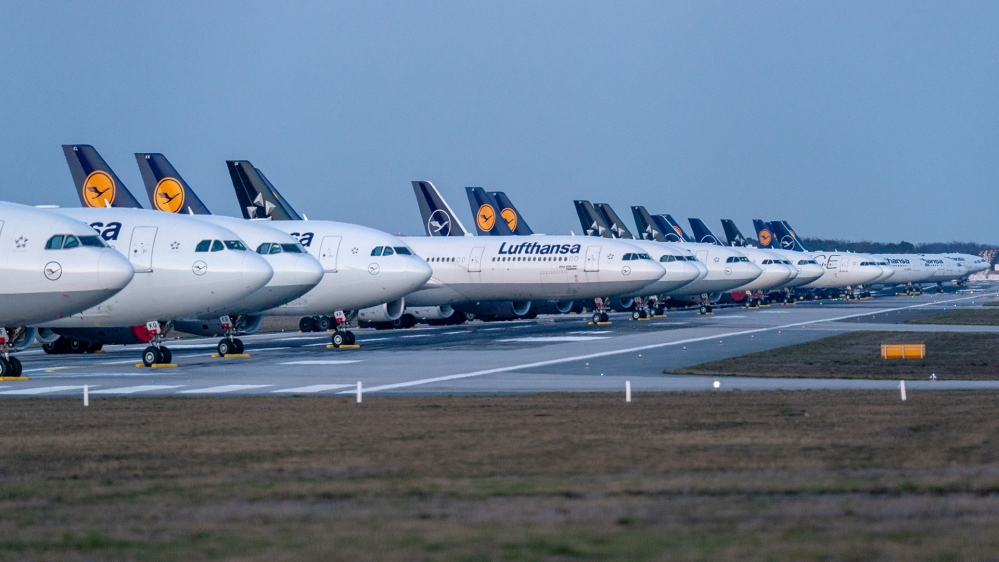 Lufthansa aircraft grounded in Frankfurt