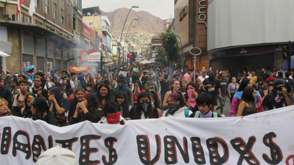 Chile protests 2 [Sandra Cuffe/Al Jazeera]
