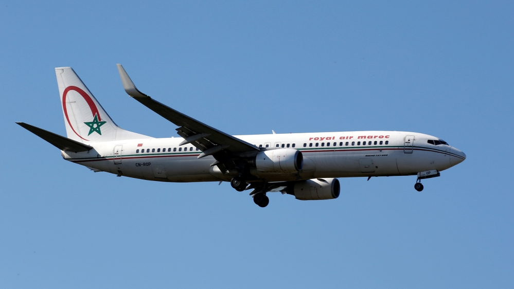 The CN-ROP Royal Air Maroc Boeing 737 makes its final approach for landing at Toulouse-Blagnac airport, France, March 20, 2019. REUTERS/Regis Duvignau