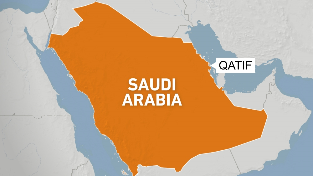Saudi Arabia map showing Qatif