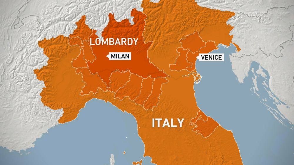 Italy map/coronavirus