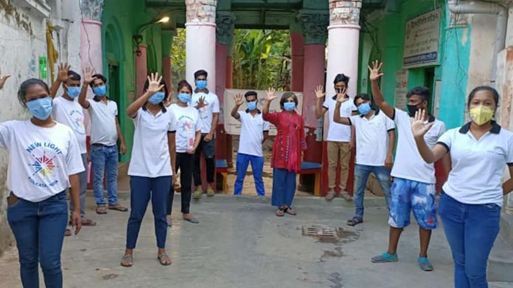 NGO New Light Kolkata distributes ration and food to 500 families in Kolkata. [Courtesy of New Light Kolkata]