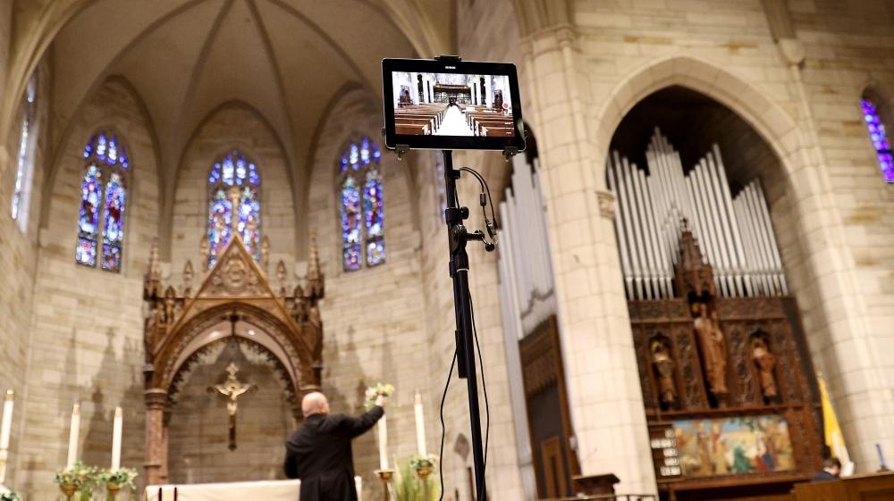 Catholic Church Prepares For Remote Easter Mass During Coronavirus Lockdown
