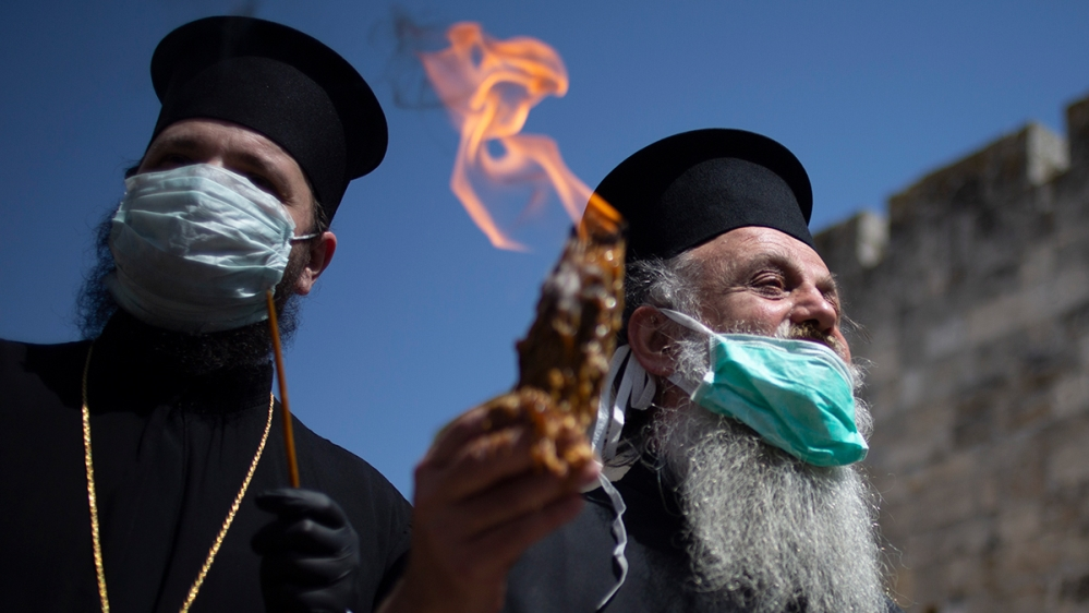 In Pictures: Orthodox Christians observe Easter amid lockdown thumbnail